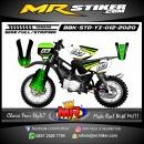 Stiker motor decal Yamaha Bebek Standar YZ Dark Green Strip Yellow