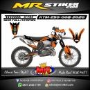 Stiker motor decal KTM 250 Orange Splat White Race