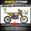 Stiker motor decal KTM 250 The Stars Color Race
