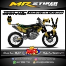 Stiker motor decal KTM 250 New Gold Line Extreme