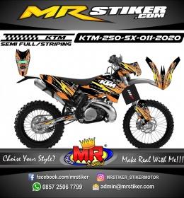 Stiker motor decal KTM 250 SX Grafis Street