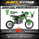Stiker motor decal KTM 85 Green Monster Energy