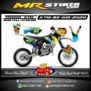 Stiker motor decal KTM 85 Line Grafis Splat Rainbow