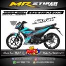 Stiker motor decal Suzuki Satria FU New FI Gray Blue Ice Gradation