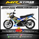 Stiker motor decal Suzuki Satria FU New Hanoman Javanese Culture