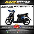 Stiker motor decal Suzuki Nex Dark Blue Strip Golden Grafis