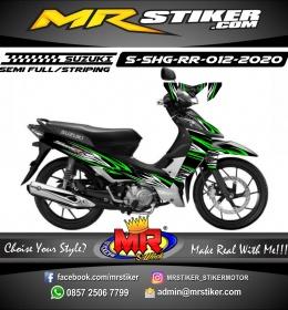 Stiker motor decal Suzuki Shogun RR Green Light Grafis Airbrush