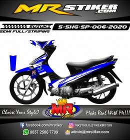 Stiker motor decal Suzuki Shogun SP Blue Movistar