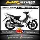 Stiker motor decal Suzuki Smash White Shark