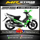 Stiker motor decal Suzuki Smash Green Neon Grafis