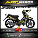 Stiker motor decal Suzuki Smash New Circle Rossi Yellow Strip