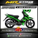 Stiker motor decal Suzuki Smash New Monster Green Stabillo Line