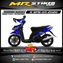 Stiker motor decal Suzuki Spin Blue Alphinestar Sponsor
