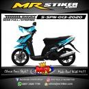 Stiker motor decal Suzuki Spin Sky Blue Black Shadow grafis