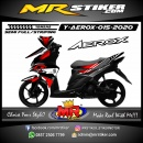 Stiker motor decal Yamaha Aerox Red Tech