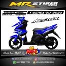 Stiker motor decal Yamaha Aerox Blue Movistar Grafis