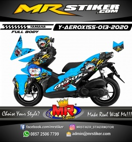 Stiker motor decal Yamaha Aerox 155 King Doraemon (FULLBODY)