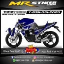 Stiker motor decal Yamaha Byson DarkBlue Flower Batik