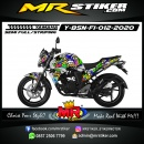 Stiker motor decal Yamaha Byson New Minion Zombie