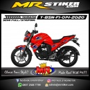 Stiker motor decal Yamaha Byson New Red Airbrush