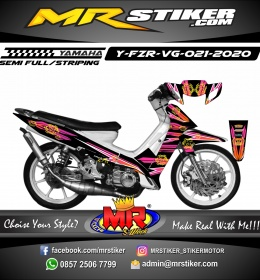 Stiker motor decal Yamaha Fiz R Grafis Circle Tech