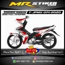 Stiker motor decal Yamaha Jupiter MX Line Red Marron Tech Grafis