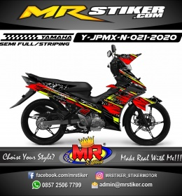Stiker motor decal Yamaha Jupiter MX New Crash Red Grafis