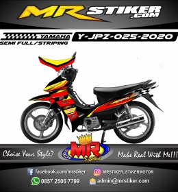Stiker motor decal Yamaha Jupiter Z The Flag Race Gradation