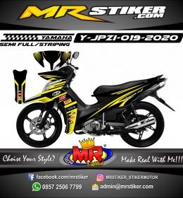 Stiker motor decal Yamaha Jupiter Z1 Yellow Strip line Grafis