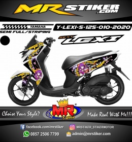 Stiker motor decal Yamaha Lexi 125 Japan Series Anime