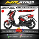Stiker motor decal Yamaha Lexi 125 Red Camo Exhaust