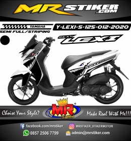 Stiker motor decal Yamaha Lexi 125 Shark Black and White