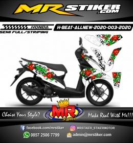 Stiker motor decal Honda Beat All New 2020 Flower Theme