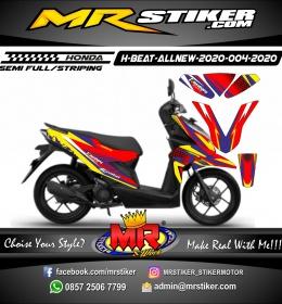 Stiker motor decal Honda Beat All New 2020 Red Gradation Line Race