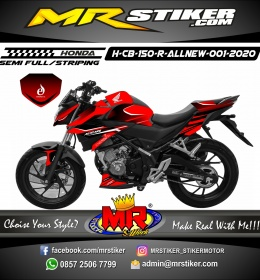 Stiker motor decal Honda CB 150 R All New Red Energyti