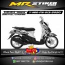 Stiker motor decal Yamaha Mio Fino Carbon Glass Cracked