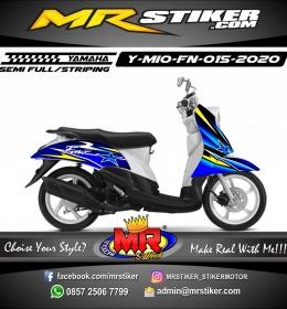 Stiker motor decal Yamaha Mio Fino Line Yellow Star Blue Gradation