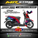 Stiker motor decal Yamaha Mio Fino New Race Sporty Grafis Type 2