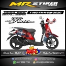 Stiker motor decal Yamaha Mio Fino New Spiderman Marvel