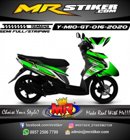 Stiker motor decal Yamaha Mio GT Bright Green