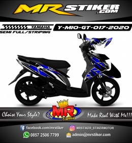 Stiker motor decal Yamaha Mio GT Light DarkBlue Flower