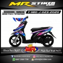 Stiker motor decal Yamaha Mio J Grafis Line Color Airbrush