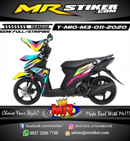 Stiker motor decal Yamaha Mio M3 Rainbow Color