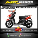 Stiker motor decal Yamaha Mio Sporty Eneos Carbon Orange Flag Race