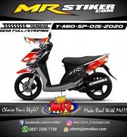 Stiker motor decal Yamaha Mio Sporty Eneos Carbon Orange Flag Race
