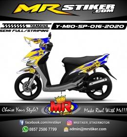 Stiker motor decal Yamaha Mio Sporty Yellow Blue Rockstar