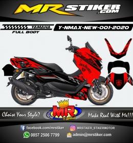 Stiker motor decal Yamaha NMAX New 2020 Red Jack Daniel's (FULLBODY)