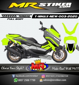 Stiker motor decal Yamaha NMAX New 2020 Line Mecha Lime Color Grafis (FULLBODY)