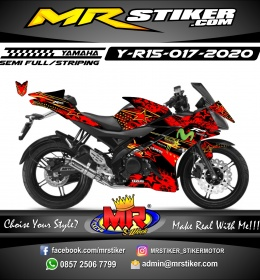 Stiker motor decal Yamaha R15 Red Star Abstrack