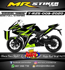 Stiker motor decal Yamaha R25 Green Stabillo Tech Grafis